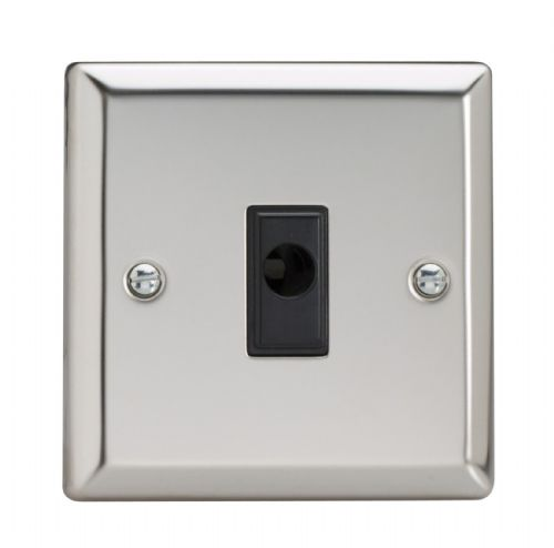 Varilight XCFOB Classic Mirror Chrome 1 Gang 16A Flex Outlet Plate